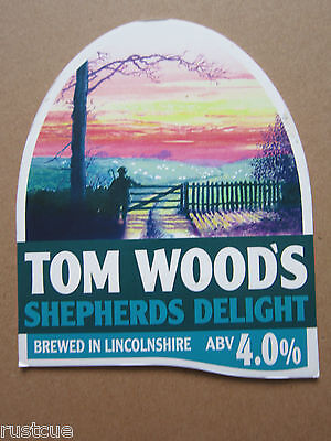 Tom Wood's - Shepherds Delight - Pump Clip Front Badge Beer Real Ale