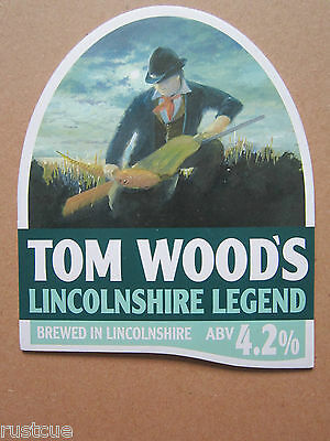 Tom Wood's - Lincolnshire Legend - Pump Clip Front Badge Beer Real Ale