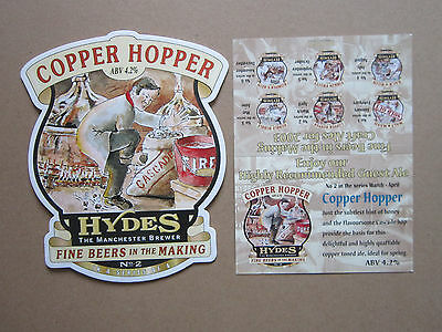 Hydes Brewery - Copper Hopper & Info Card - Pump Clip Front Badge Beer Real Ale