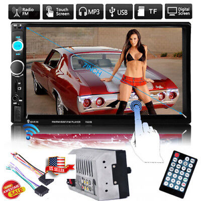 "7"" Double 2 Din Car MP5 Player Bluetooth Touch Screen Stereo Radio FM/USB/SD Aux"