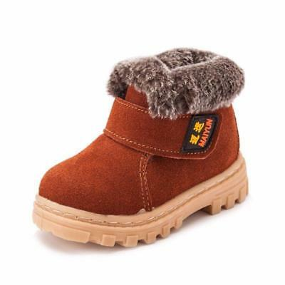 Girls Boys Kids Winter Warm Thicken Snow Ankle Boots Faux Fur Shoes US 1-13 W865