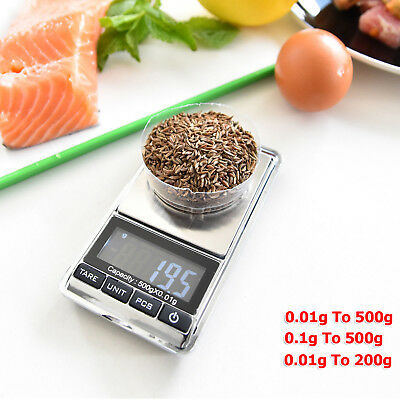 Mini Pocket Electronic Digital Weight Scales 500g 200g 0.01g 0.1g Gold Jewellery