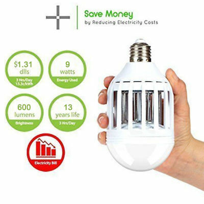 LED Bulb Anti Pest Reject Mosquito Insect Mouse Killer Repeller lamp US