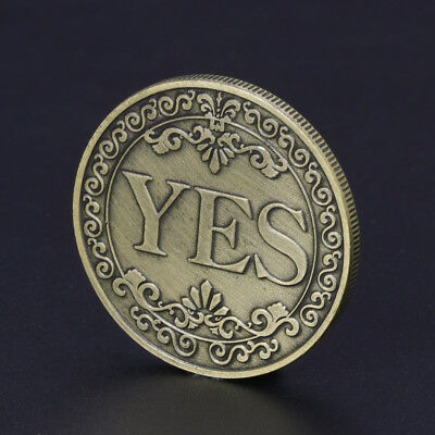 Floral YES NO Letter Commemorative Coin Ornaments Collection Arts Souvenir Gifts