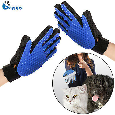 Dog Cat Bath Grooming Washing Clean Massage Glove Fur Cleaning Pet Hair Brush
