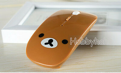 Lovely Cute Brown Rilakkuma Relax Bear Optical USB Mice 2.4GHz Wireless Mouse