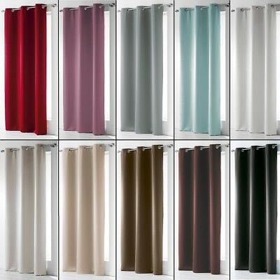 Occult Plain Blackout Eyelet Single Curtain Panel - Extra Wide and Extra Long