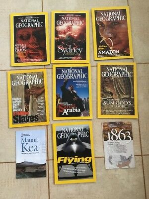 National Geographic Magazines Job Lot. Geography. Natural History. Science