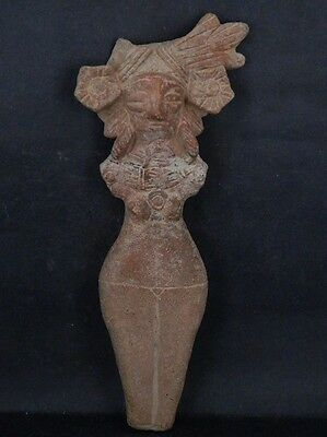 Ancient Large Size Teracotta Mother Goddess Indus Valley 600 BC No Reserv #IK447