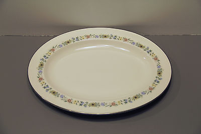 "One Pastorale Oval Serving Platter 13 3/8"" - Royal Doulton Bone China"