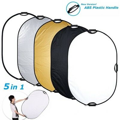 Photography Portable 5 in 1 Light Collapsible Photo Reflector 80x120cm Diffuser