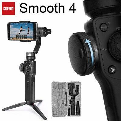 ZHIYUN Smooth 4 Handheld Stabilizer 3-Axis Gimbal F Cell Phone Camera w /Tripod