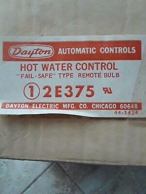 Dayton 2E375 Hot Water Control Fail Safe Type Remote Bulb *new In Box*