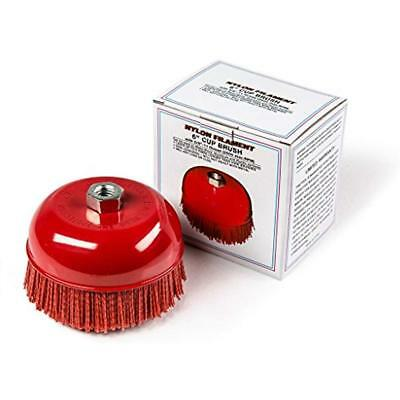"""6"""" Cup Brush Nylon Filament Metal/Wood/Plastic Surface Spray-On Truck Bed Liner"""
