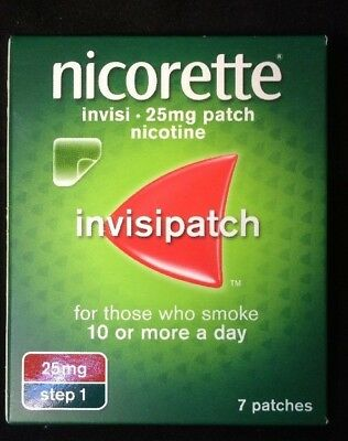 Nicorette Invisi Patch 25mg- 7 patches - Step 1 Times 2 Packs