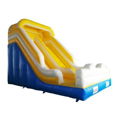 ALEKO Commercial Bounce Wet/Dry Slide Bounce with Blower Blue Yellow an White