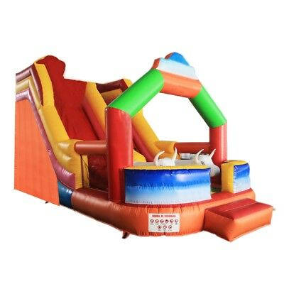 ALEKO Commercial Outdoor Bounce with Wet/Dry Slide and Blower Bull Design