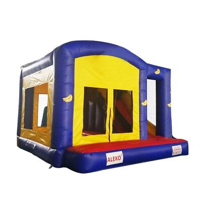 ALEKO Commercial Bounce with Basketball Hoop Slide Climbing Wall and Blower