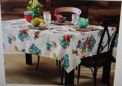 """The Pioneer Woman """"Country Garden"""" Cotton Tablecloth - Oblong - 52"""" X 70"""" ~NWT~"""