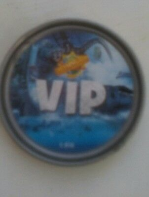 Merlin Chessington world of adventures V.I.P Silver Pop Badge VIP new free post