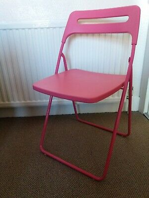 Nisse IKEA Hot Pink Folding Chair