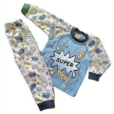 Baby Boys Toddler Kids Pyjamas Pjs 100% COTTON From 9-12 Months to  6-7 Years