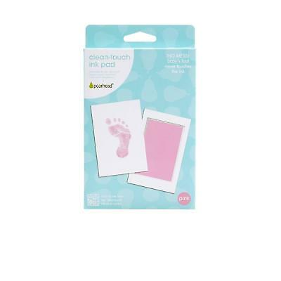 Pearhead Mess-Free and Clean-Touch Ink Pad, Pink-foot/handprints-girls