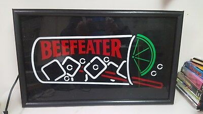 Beefeater Gin Cocktail Lighted 27x16 very unique vintage bar sign