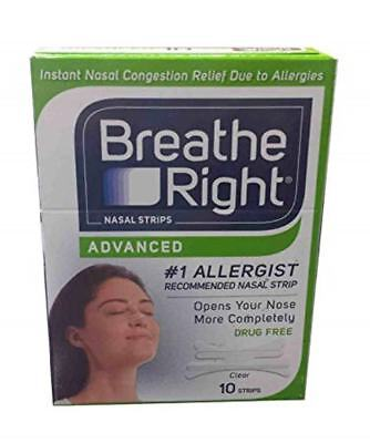 10 Breathe Right ADVANCED Clear Nasal Strips ~ Factory Sealed + Buy 5 Get 1 FREE