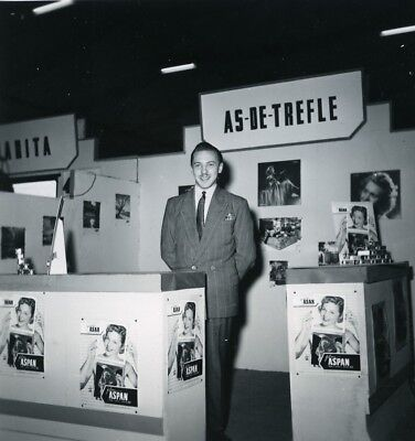 France Paris Photo Cine Sound Fair Booth As de Tréfle Old Amateur Snapshot 1951