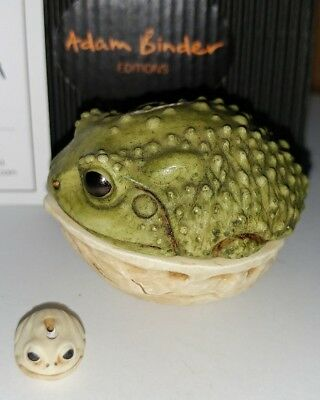 Adam Binder Editions Tight Squeeze frog with button 2009 UK Made