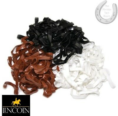 Lincoln Silicone Plaiting Bands – Black, Brown, White – Super Stretchy Mane Tail