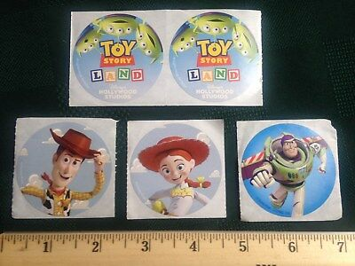 "DISNEY ""TOY STORY LAND"" Stickers - Set of (5)"