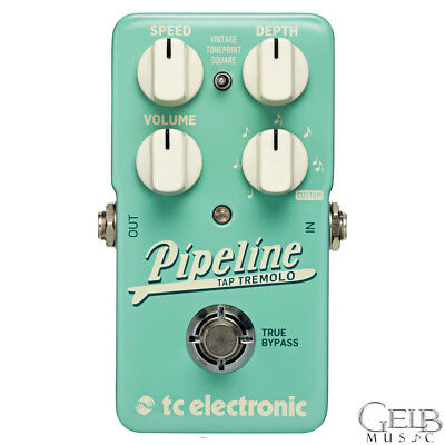 TC Electronic Pipeline Tap Tremolo Guitar Effect Pedal with Toneprint 960826001