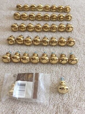 Belwith Solid Brass (Polished) Cabinet/Drawer Knobs, Lot of 42