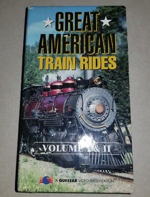Great American Train Rides Vhs Volume 1 And 2 1994 Tapes