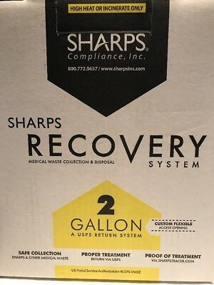 Sharps Compliance Inc. Recovery System, 2 Gallon A USPS return system
