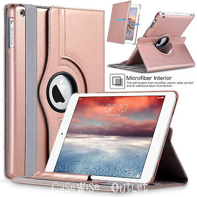 """Leather 360° Rotating Smart Swivel Case Cover For Apple iPad 9.7"""" 6th Gen 2018"""
