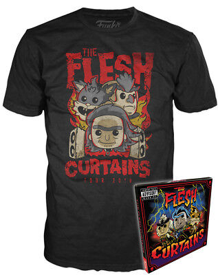 Funko POP Tees Rick and Morty The Flesh Curtains Tour 2018 Limited T-Shirt New