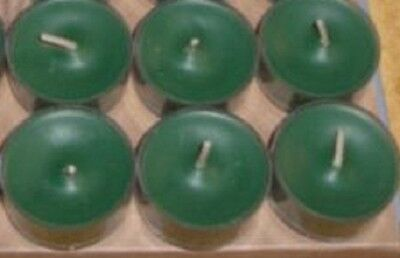 Partylite 1 box UNSCENTED GREEN Tealights low ship NIB