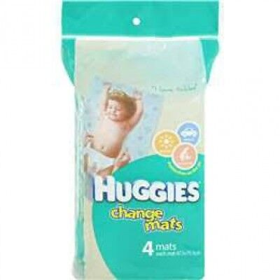New Huggies Hug Change Mats 4X5 Pack - Blue and White Teddy Bear Design 48Cm X