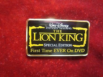 Disney Auctions The Lion King Special Edition Rare Dvd Title Logo Pin 40650 VHTF