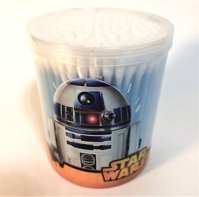 Star Wars Disney R2-D2 150 Cotton Swabs w/Plastic Container Q-tips Fact Sealed