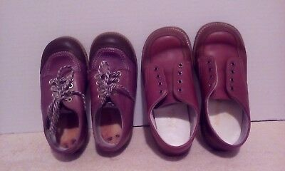 Vintage Lot of 2, Childrens Shoes, Two Tone Brown Stride Rite/Buster Brown?