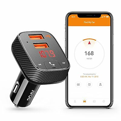 Roav by Anker SmartCharge Car Kit F2 Wireless In-Car FM Transmitter Free Ship