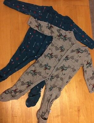 Rosie Pope Lot Of Two 6-9M Baby Boy Sleepers