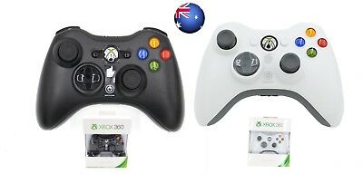 New Black/White Xbox 360 Genuine Wireless Game Controller Gamepad For Windows AU