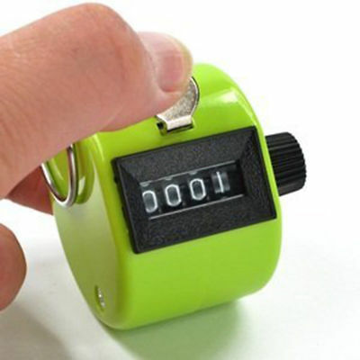 Pitch Tally Counter Clicker 0 - 9999 Coach Clickers for Baseball Golf Tracker