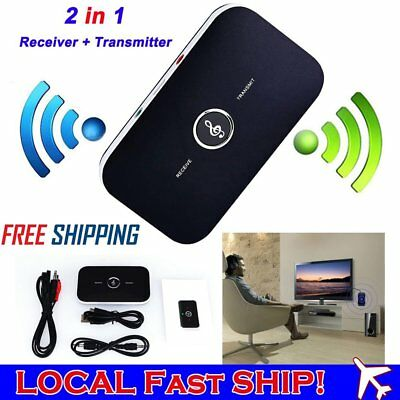 Wireless Bluetooth 2in1 Stereo Audio Transmitter Receiver 3.5MM RCA HIFI Adapter