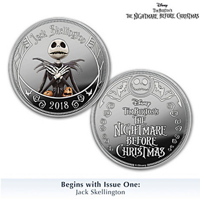 2018 Disney The Nightmare Before Christmas Collection Jack Skellington PF Coin